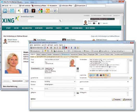 CAS genesisWorld Social Media Intergation