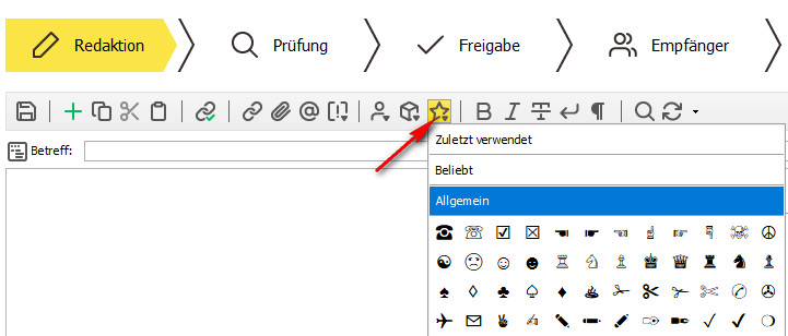 inxmail_symbole_einfuegen